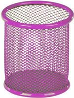 Стакан для ручек (Kite, 80х80х100мм, металическая, розовая, K17-2110-10)