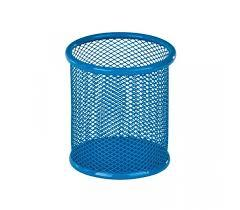 Стакан-подставка для ручек Kite 80х80х100мм металическая голубая K17-2110-07