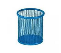Стакан для ручек (Kite, 80х80х100мм, металическая, голубая, K17-2110-07)