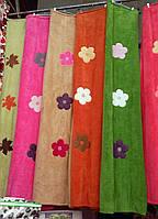 Плед из бамбука с вышивкой 200*220 терракота