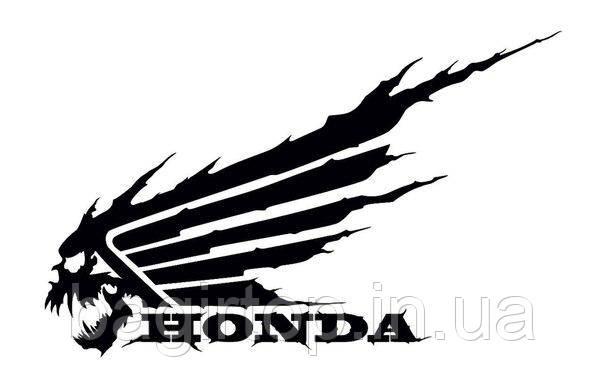 Виниловая наклейка на авто - мотоцикл Хонда