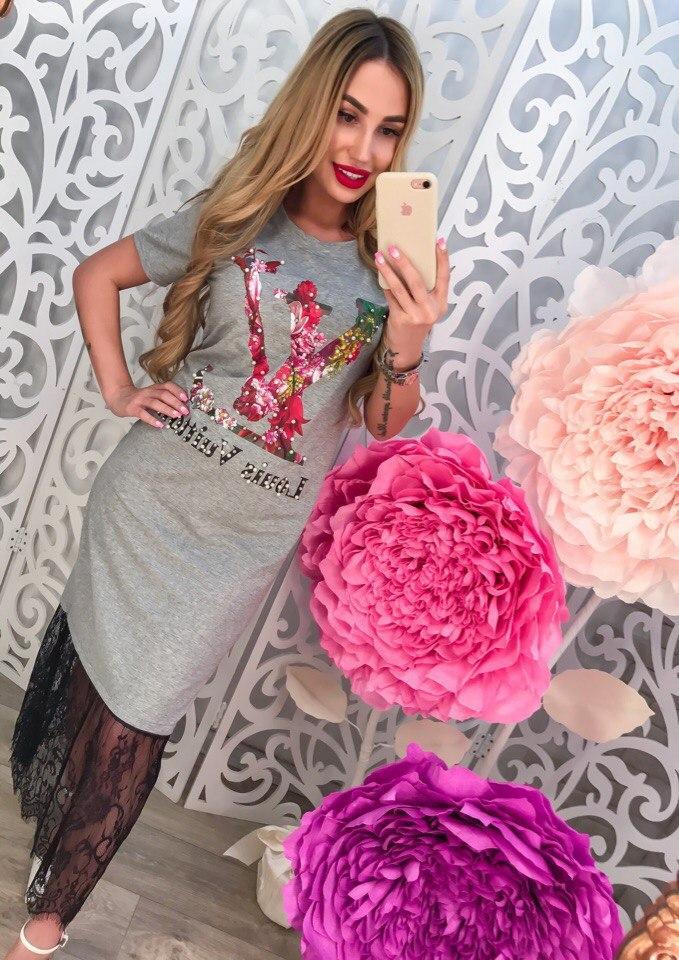 """Женское платье """"L&V"""" DB-3982 - «Riccardo» - мультибрендовый интернет-магазин одежды от украинских производителей оптом и в розницу в Харькове"""