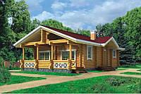 Дом 70 м2 из бруса с участком у леса