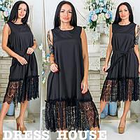 Шикарное платье р.42-46 черный
