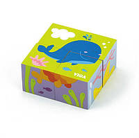 """Пазл-кубики Viga Toys """"Подводный мир"""" (50161)"""