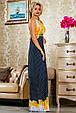 Красивое  летнее молодежное  платье 2238 темно-синее, фото 2