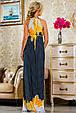 Красивое  летнее молодежное  платье 2238 темно-синее, фото 3