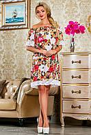 Яркое женское летнее платье 2244 Seventeen 42-52 размеры