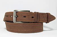 Ремень 'NewJeans' 40 мм коричневый прошитый