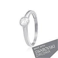 Серебряное кольцо с цирконием SWAROVSKI ZIRCONIA К2С/703 - 18,1