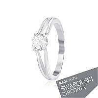Серебряное кольцо с цирконием SWAROVSKI ZIRCONIA К2С/704 - 15,5