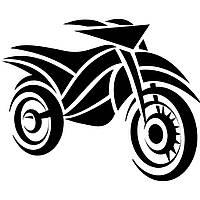 Виниловая наклейка на авто - Мотоцикл 88