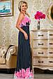 Красивое  летнее молодежное  платье 2237темно-синее, фото 2