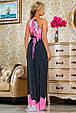 Красивое  летнее молодежное  платье 2237темно-синее, фото 3