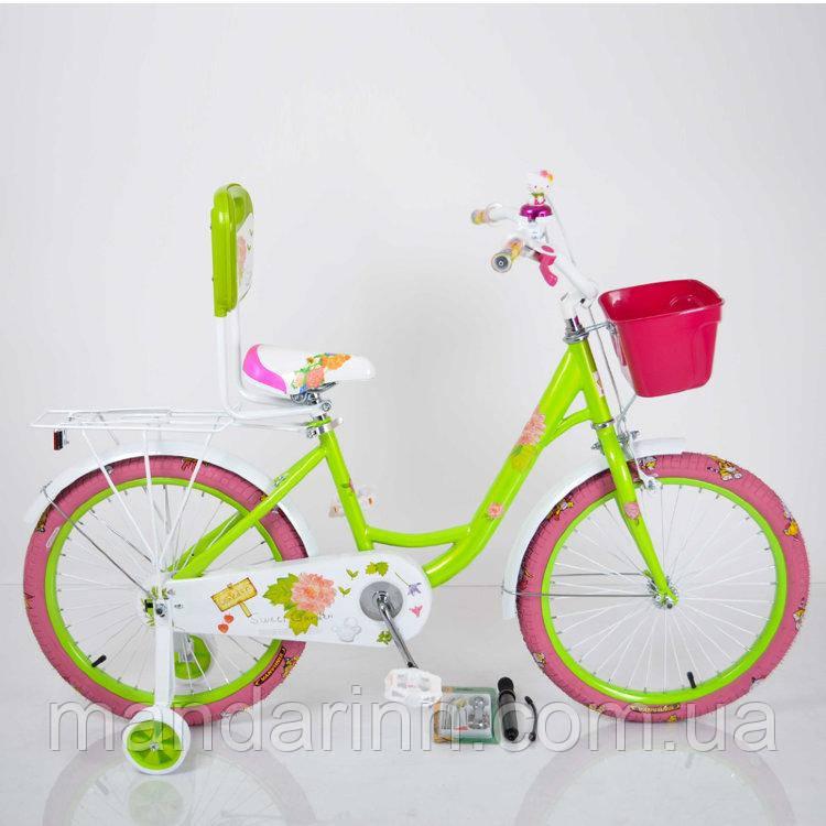 """Велосипед детский 20 дюймов (16д)  """"20-ROSES"""" Green"""