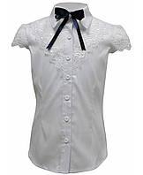 Ahsen Блузка на короткий рукав 7-14р белый