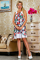 Шифоновое платье с цветочным принтом  2242 Seventeen 42-48 размеры