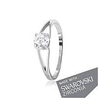 Серебряное кольцо с цирконием SWAROVSKI ZIRCONIA К2С/839 - 18,1