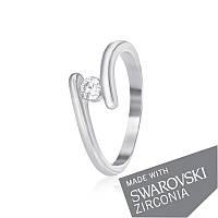 Серебряное кольцо с цирконием SWAROVSKI ZIRCONIA К2С/861 - 15,5