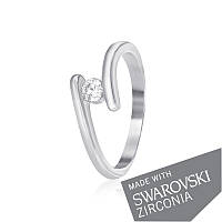 Серебряное кольцо с цирконием SWAROVSKI ZIRCONIA К2С/861 - 16,2