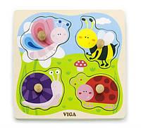 """Пазл Viga Toys """"Насекомые"""" , развивающие детские пазлы, деревянные пазлы вкладыши"""