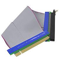 PCI express, PCI-e riser райзер 16X на 16X шлейф удлинитель 110мм на 190мм без питания, BTC