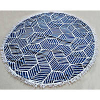Пляжный коврик Мандала (темно-синяя)