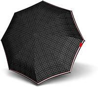 Солидный мужской механический зонт Knirps T.010 Id Check  Мех Kn9530104000, серый с черным