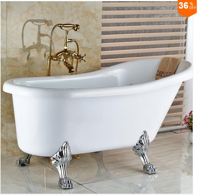 Смеситель для ванны золотой