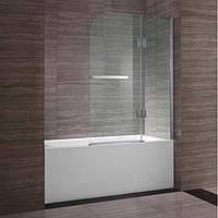 Шторка для ванны  двухсекционная Bricolage 140x120cm  ( ручка с вешалкой)