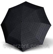 Ветроустойчивый зонт полный автомат Knirps T.200 Men's Prints Kn9532007400, черный с серым