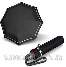 Классический мужской зонт полный автомат Knirps T.200 Reflective Black Kn9532007151, черный