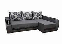 Угловой диван Garnitur.plus Граф темно-серый 245 см
