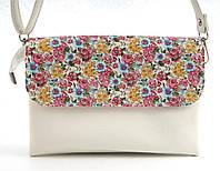 Небольшая функциональная женская сумочка барсетка с качественного заменителя кожи B. Elit art. 02-08 белый цве