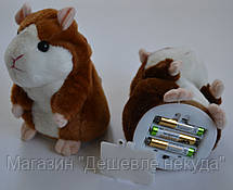 Говорящий хомяк интерактивная игрушка (повторюшка под музыку)!Акция, фото 3