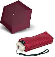 Бесподобный женский механический зонт Knirps Travel Burgundy Kn89815135, бордовый