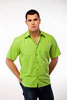 Рубашка мужская зеленая