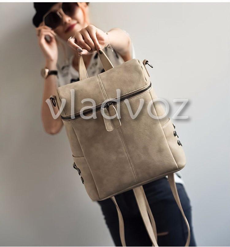 Фото городского женского модного стильного рюкзака сумка