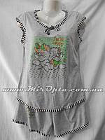 Пижама женская разные цвета BS5 купить оптом со склада 7км