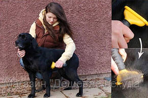 Щетка для груминга крупных собак Furminator deShedding tool Large Фурминатор Fubnimroat лезвие 10,16 см!Акция, фото 3