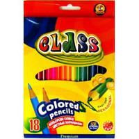 Карандаши цветные 18цв. CLASS Premium 1618