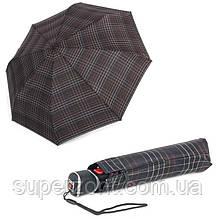 Ветроустойчивый мужской зонт полный автомат Knirps T3 Check Black Kn89885529, коричневый