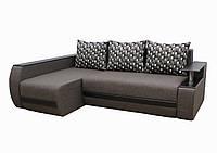 Угловой диван Garnitur.plus Граф серый 245 см