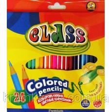Карандаши цветные 24цв. CLASS Premium 1624