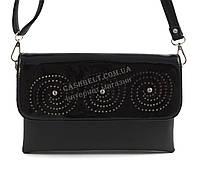 Небольшая стильная женская сумочка с качественного заменителя кожи B. Elit art. 005-24 черная перфорация