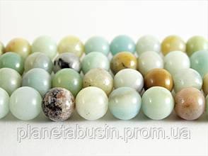 6 мм Амазонит, Натуральный камень, бусины 6 мм, Шар, Отверстие 1 мм, количество: 62 шт/нить, фото 2