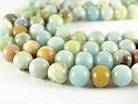 6 мм Амазонит, Натуральный камень, бусины 6 мм, Шар, Отверстие 1 мм, количество: 62 шт/нить