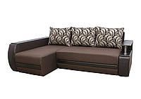 Угловой диван Garnitur.plus Граф левосторонний коричневый 245 см, фото 1