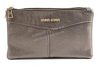 Небольшая стильная женская сумочка барсетка с качественного материала MIN MIN art. 5166 серебро