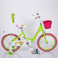 """Велосипед детский 18 дюймов (16, 20д)  """"18-ROSES"""" Green"""